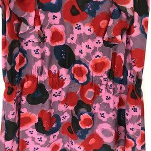 Rebecca Taylor Tops - Rebecca Taylor Floral Sleeveless Ruffle Blouse 2